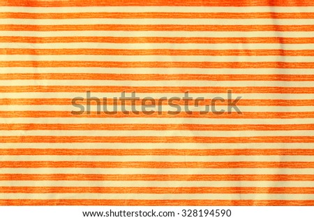 crumpled paper with orange stripes, toned image - stock photo
