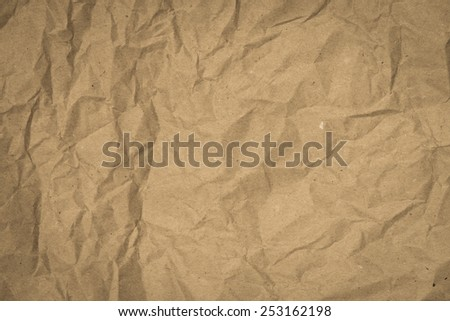 Crumpled recycled paper with texture background.