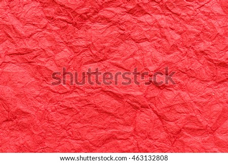 crumpled red paper texture background