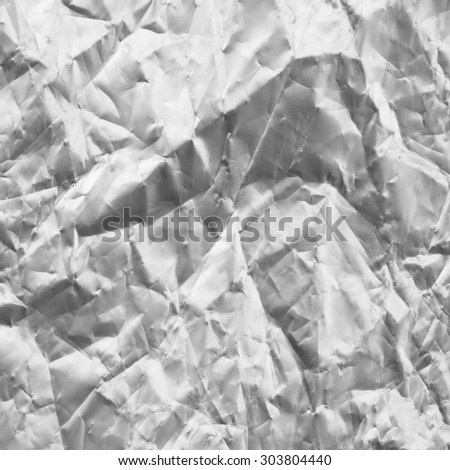 Crumpled sheet of aluminum. Abstract textured background