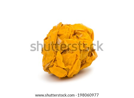 crumpled tape on white background