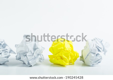 Crumpled white A4 paper isolated with ball shape - stock photo