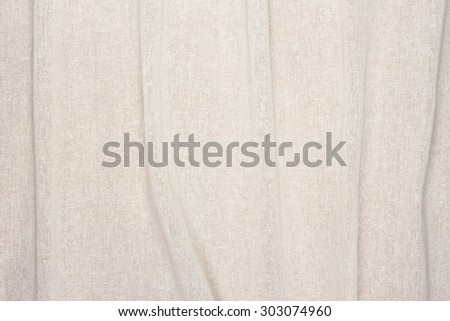 crumpled white cream color Fabric texture background - stock photo