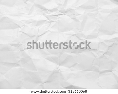 Crumpled white paper background - stock photo