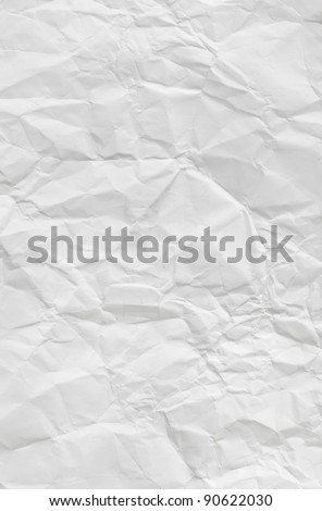 Crumpled white paper texture - abstract background - stock photo