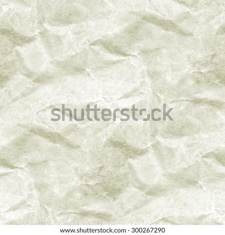crumpled white paper texture, grunge background, seamless pattern - stock photo
