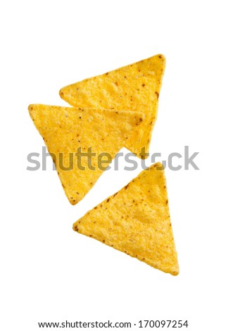 Crunchy Corn Tortilla Chips - stock photo