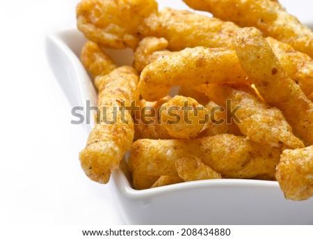 Crunchy kurkure chip - stock photo