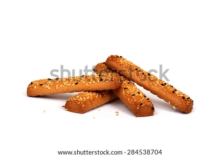 crunchy sesame - stock photo