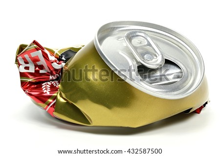 Beer Can Stock Images, Royalty-Free Images & Vectors ...  Crushed Beer Can