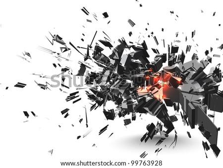 Crushed Element - stock photo