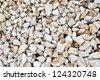 Crushed gravel - stock photo