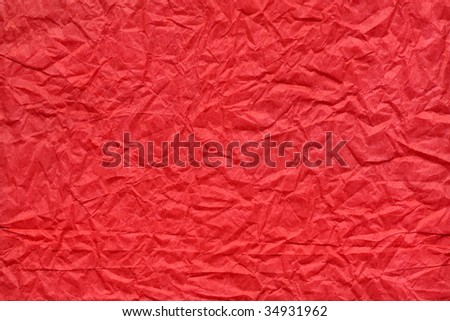 Crushed red paper texture
