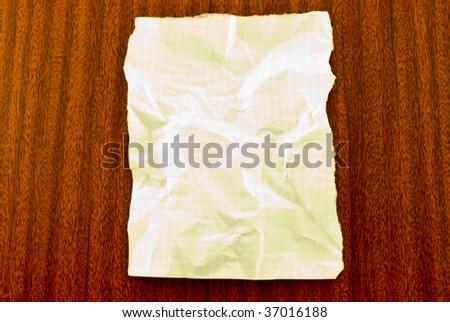 crushed sheet - stock photo