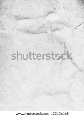 Crushed white paper background - stock photo