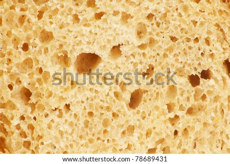 crust of bread as a backdrop. Macro