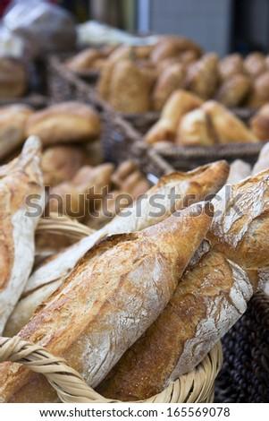 Crusty bread - stock photo