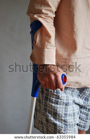 Crutches - stock photo