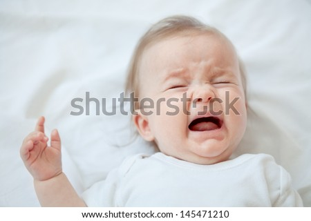 Cry baby - stock photo