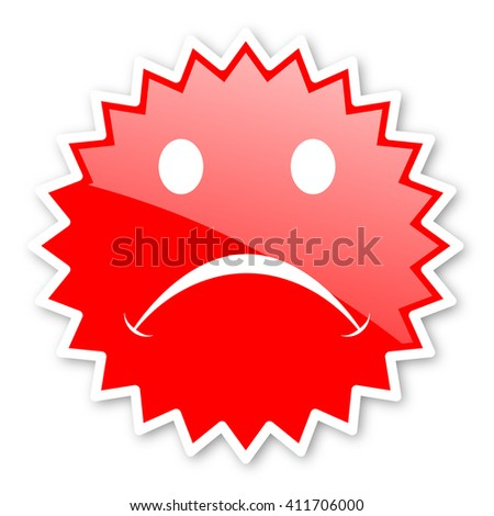 cry red tag, sticker, label, star, stamp, banner, advertising, badge, emblem, web icon - stock photo