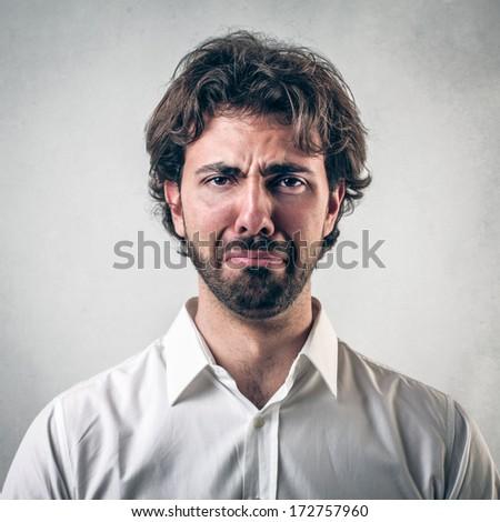 crying - stock photo