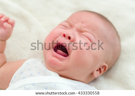 Crying baby - stock photo