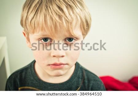 Crying child - stock photo