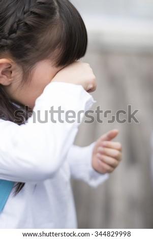 Crying girl - stock photo