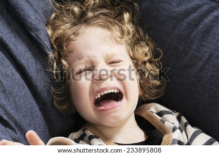 crying little boy - stock photo