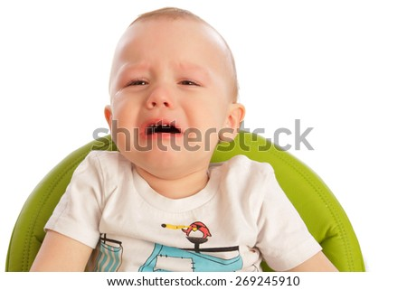 crying little boy - stock photo