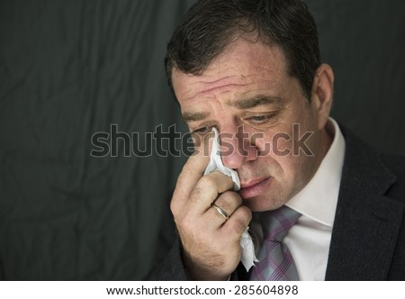 Crying man - stock photo