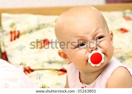 Crying of the child - stock photo