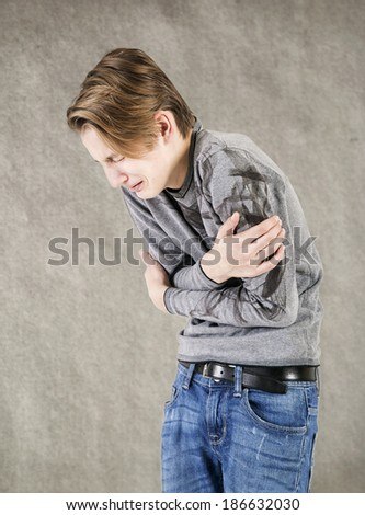 Crying teenager - stock photo