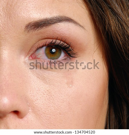 Crying woman - stock photo