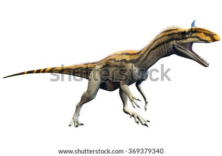Cryolophosaurus - stock photo