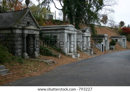 Crypts at Hollywood Cemetery - stock photo