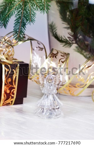 Crystal Angel. New Year Decoration. Christmas Ornaments. Christmas  Decoration