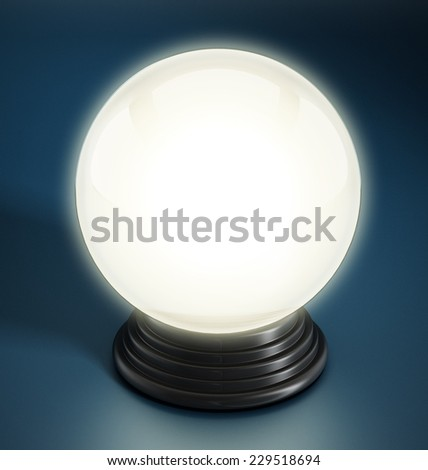 Crystal ball isolated on white background.