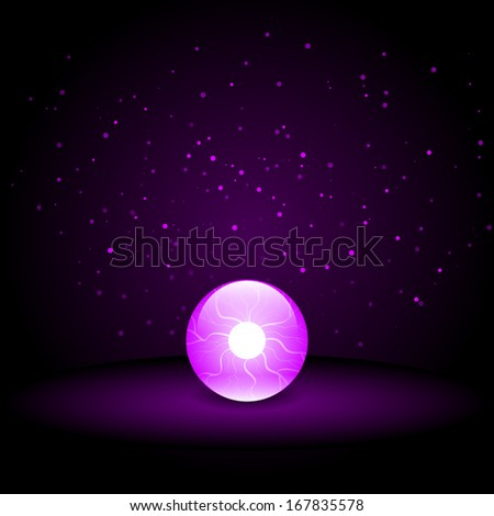 Crystal Ball on Dark Background  - stock photo