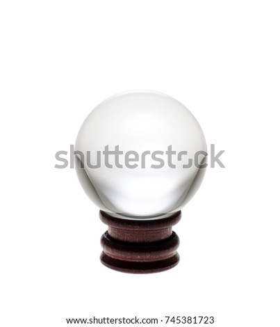 Crystal ball on white background.