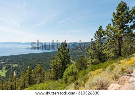 Crystal Bay, Lake Tahoe, Incline Village, Nevada - stock photo