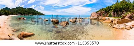 Crystal Bay tropical beach in Koh Samui,Thailand - stock photo