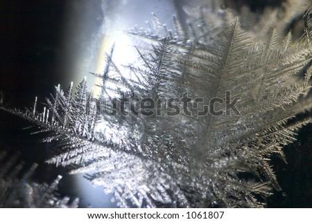 Crystal Big Snowflake - stock photo