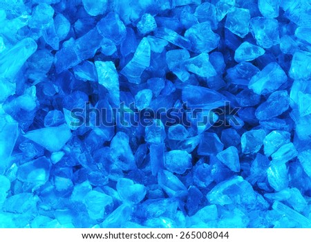 Crystal blue ice background , group of objects - stock photo