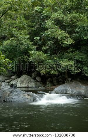 Crystal Cascades, Redlynch Valley, Cairns, North Queensland, Australia - stock photo