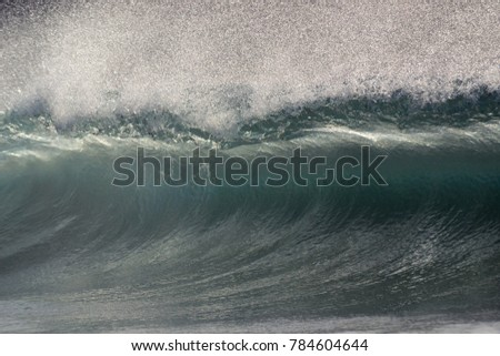 crystal clear offshore wave shot from the water