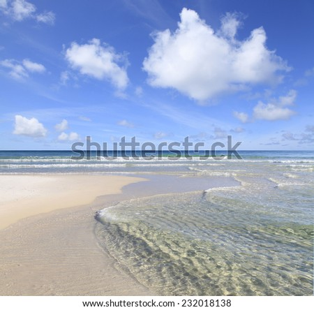 Crystal Clear Water of the Florida Gulf Coast - stock photo