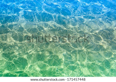 Crystal clear water of the ocean - stock photo