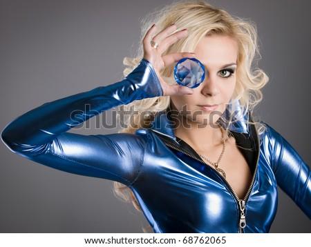 crystal eye - stock photo