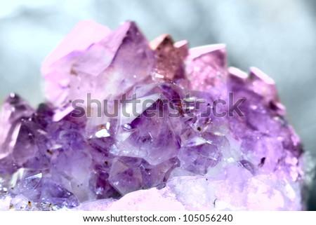 crystal  gem amethyst - stock photo